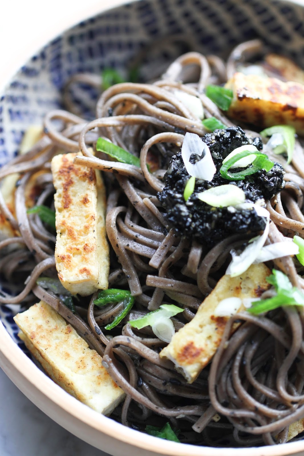 Black Sesame Soba Noodle Otsu Style - Ever Open Sauce